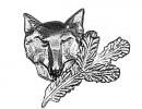 Odznak liška hlavaOdznak liška hlava